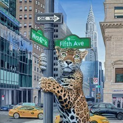Concrete Jungle by Steve Tandy -  sized 24x24 inches. Available from Whitewall Galleries
